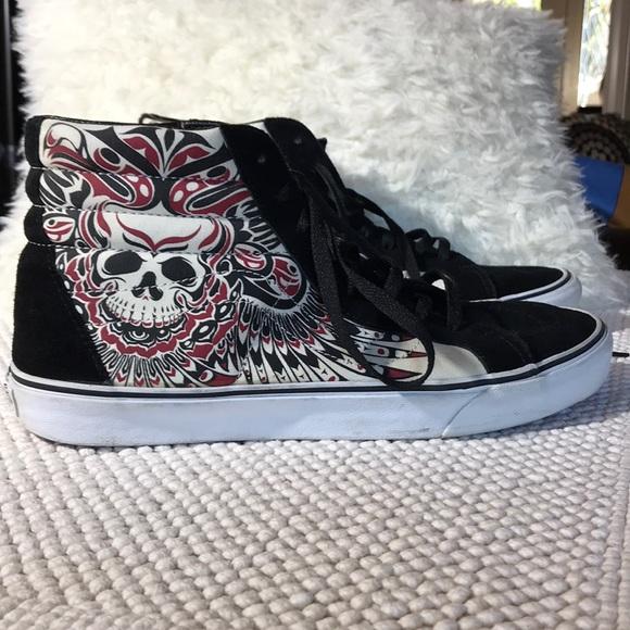 Vans Shoes | Vans High Top Skulls Suede
